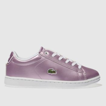Lacoste Lilac Caraby Evo Girls Junior