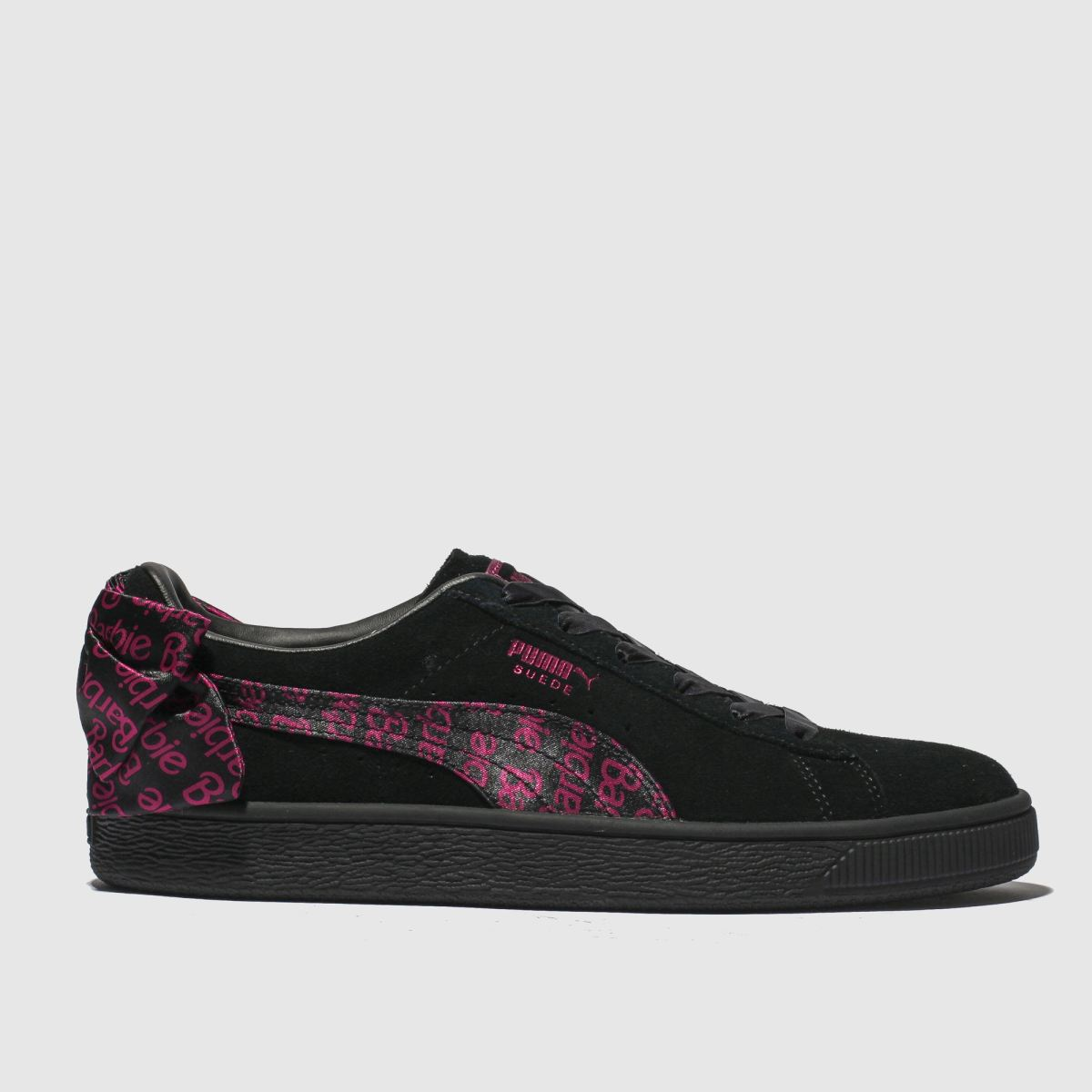 Puma Black & Pink Suede Classic X Barbie Trainers Junior