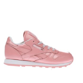 Reebok Pink Classic Leather Girls Junior