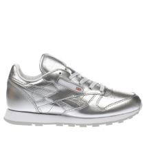 Reebok Silver Classic Leather Girls Junior