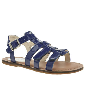 Clarks Blue Loni Joy Girls Junior