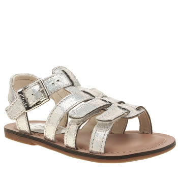 Clarks Silver Loni Joy Girls Junior