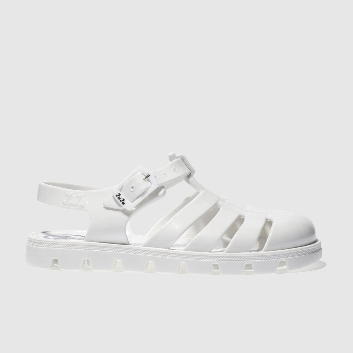 juju jellies Juju Jellies White Maxi Girls Junior Sandals