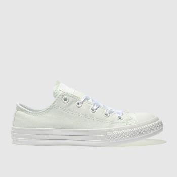 Converse Green All Star Lo Polka Dot Girls Junior