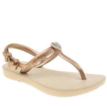 Havaianas Beige & Gold Freedom Girls Junior