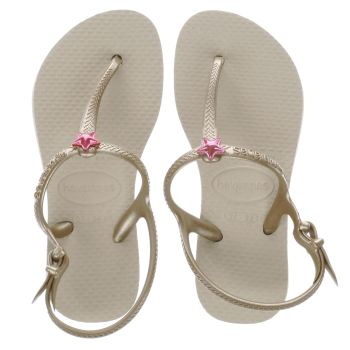 kids havaianas gold freedom trainers
