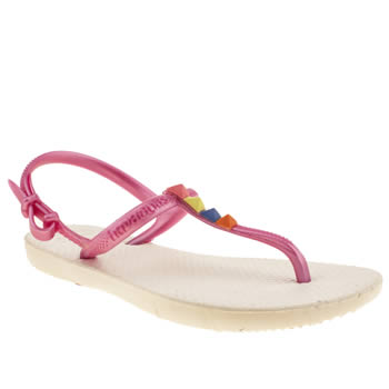 Girls Havaianas White & Pink Freedom Girls Junior