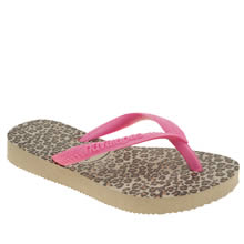 Havaianas Pink & Black Slim Animal Girls Junior