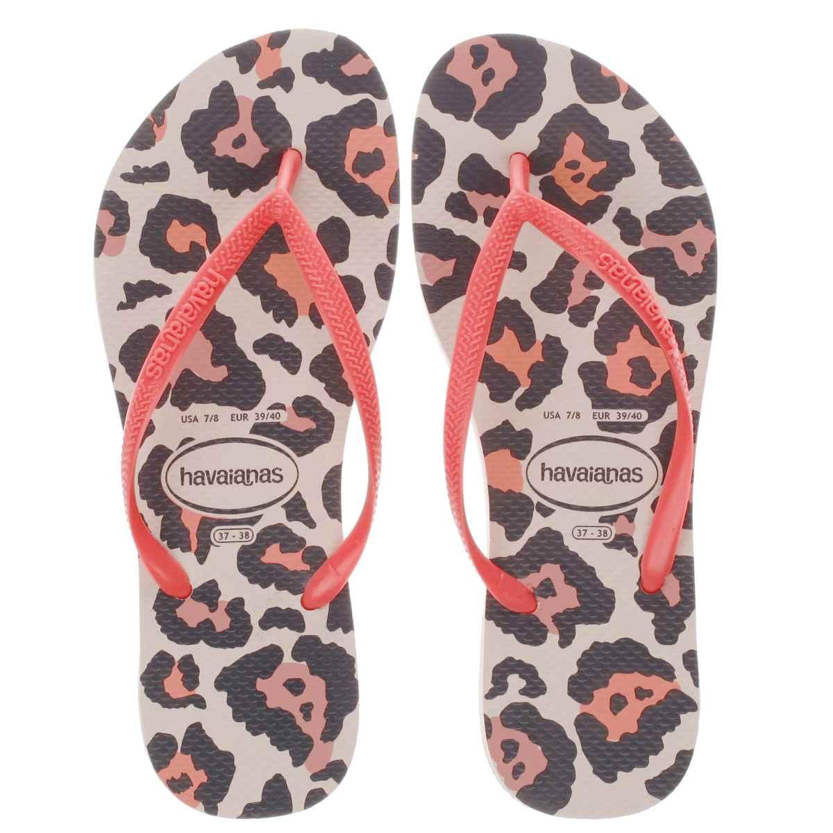 havaianas pink & stone slim animal Girls Junior Sandals