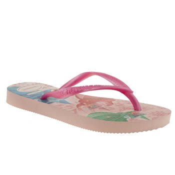 Havaianas Pale Pink Slim Princess Girls Junior