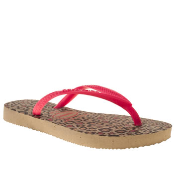 Havaianas Pink Slim Fashion Girls Junior