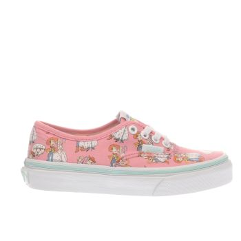 Vans Pink Authentic Toy Story Woody & Bo Girls Junior