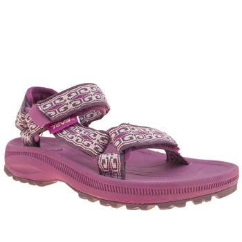 kids teva white & pink hurricane 2 trainers