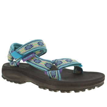 kids teva pale blue hurricane 2 trainers