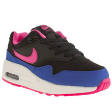 Junior Black and blue Nike Air Max 1