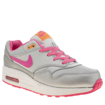 Nike Silver Air Max 1 Girls Junior
