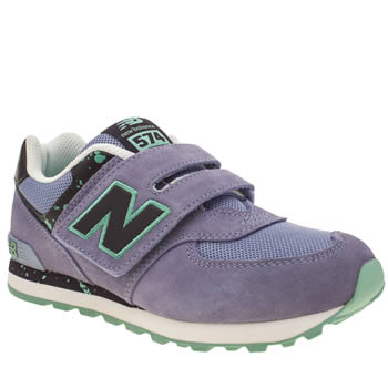 Girls New Balance Lilac 574 Speckled Girls Junior