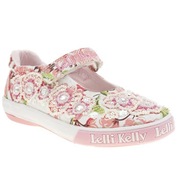 Girls Lelli Kelly White & Pink Fi Di Pesco Girls Junior