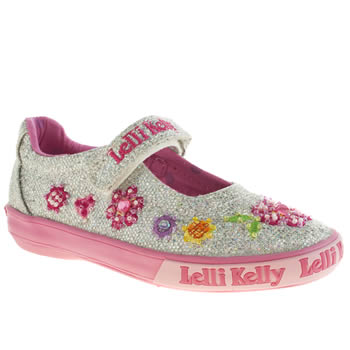 Girls Lelli Kelly Silver Florence Glitter Dolly Girls Junior