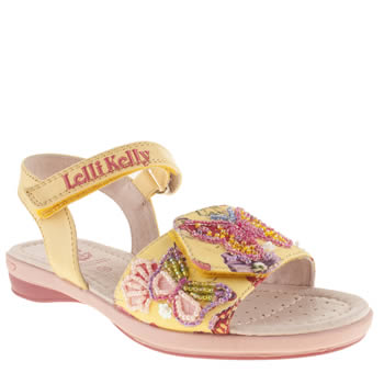 kids lelli kelly  yellow maisie sandal trainers