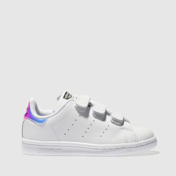 Girls Adidas White & Silver Stan Smith Girls Junior