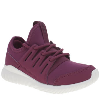 Adidas Burgundy Tubular Radial Girls Junior