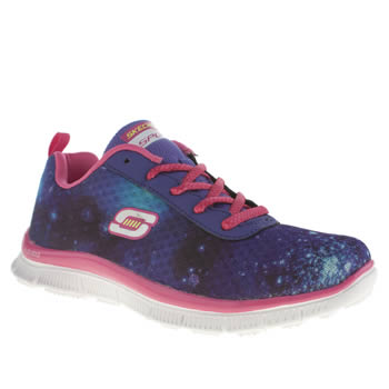 SKECHERS DARK PURPLE SKECH APPEAL GIRLS JUNIOR TRAINERS
