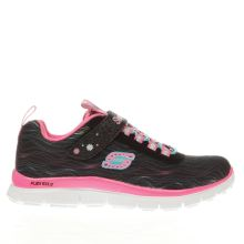Skechers Black & pink Skech Appeal Sittin Pretty Girls Junior