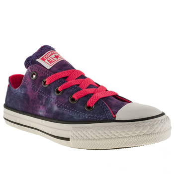 Converse Multi All Star Tie Dye Ox Girls Junior