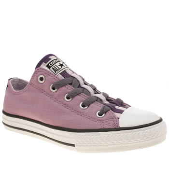 Girls Converse Lilac All Star Loopholes Ox Girls Junior