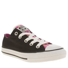 Converse Black & pink All Star Loopholes Ox Junior Girls Junior