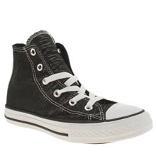 Converse Black & White All Star Hi Camp Craft Girls Junior