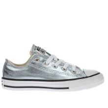 Converse Pale Blue All Star Ox Metallic Girls Junior