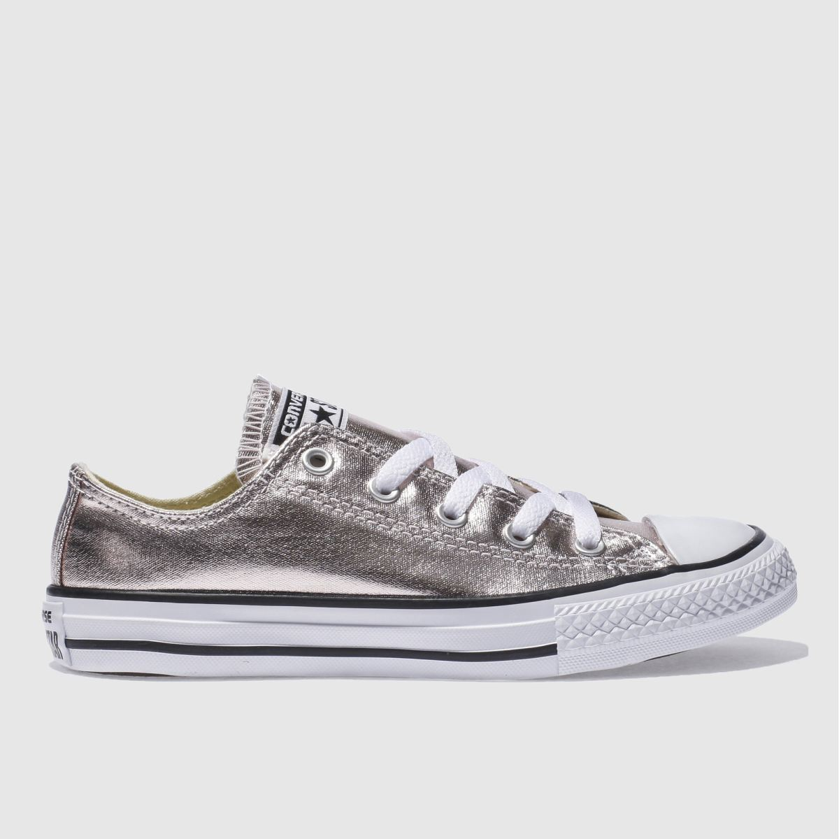 converse rose quartz all star ox metallic Girls Junior Trainers
