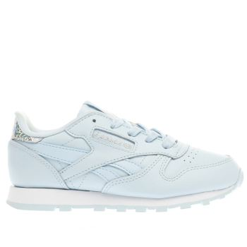 Reebok Blue Classic Leather Pastel Girls Junior