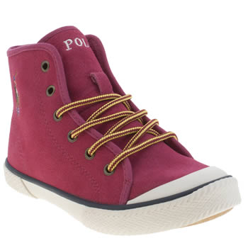 Polo Ralph Lauren Pink Chaz Mid Girls Junior