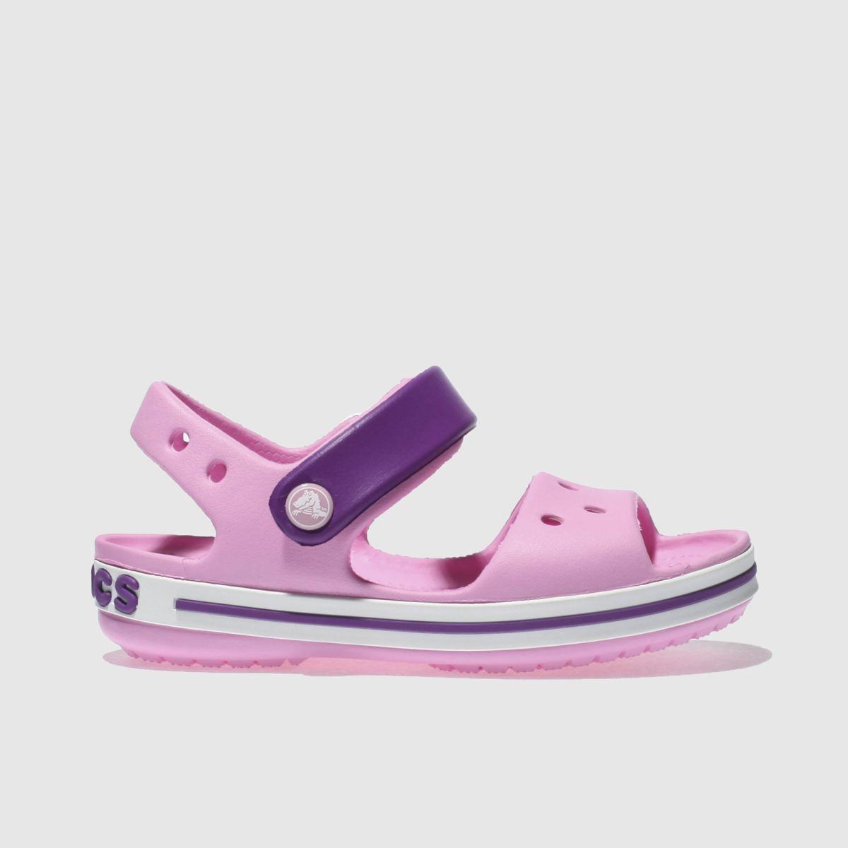 Crocs Crocs Pale Pink Crocband Sandal Girls Junior Sandals