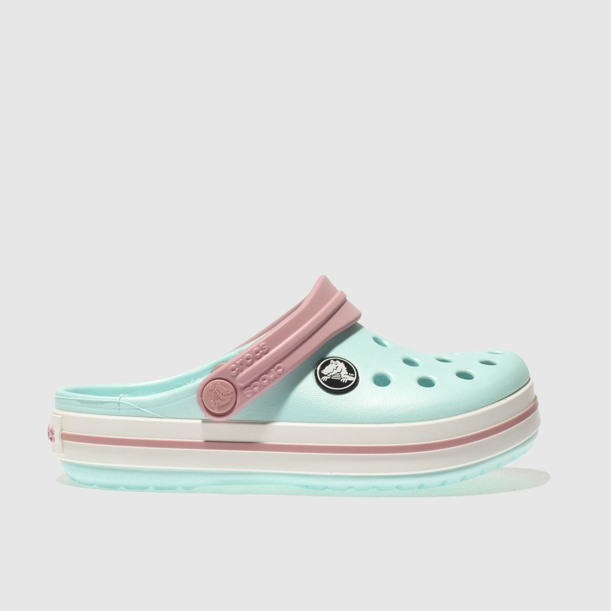 Crocs Crocs Pale Blue Crocband Clog Girls Junior Sandals