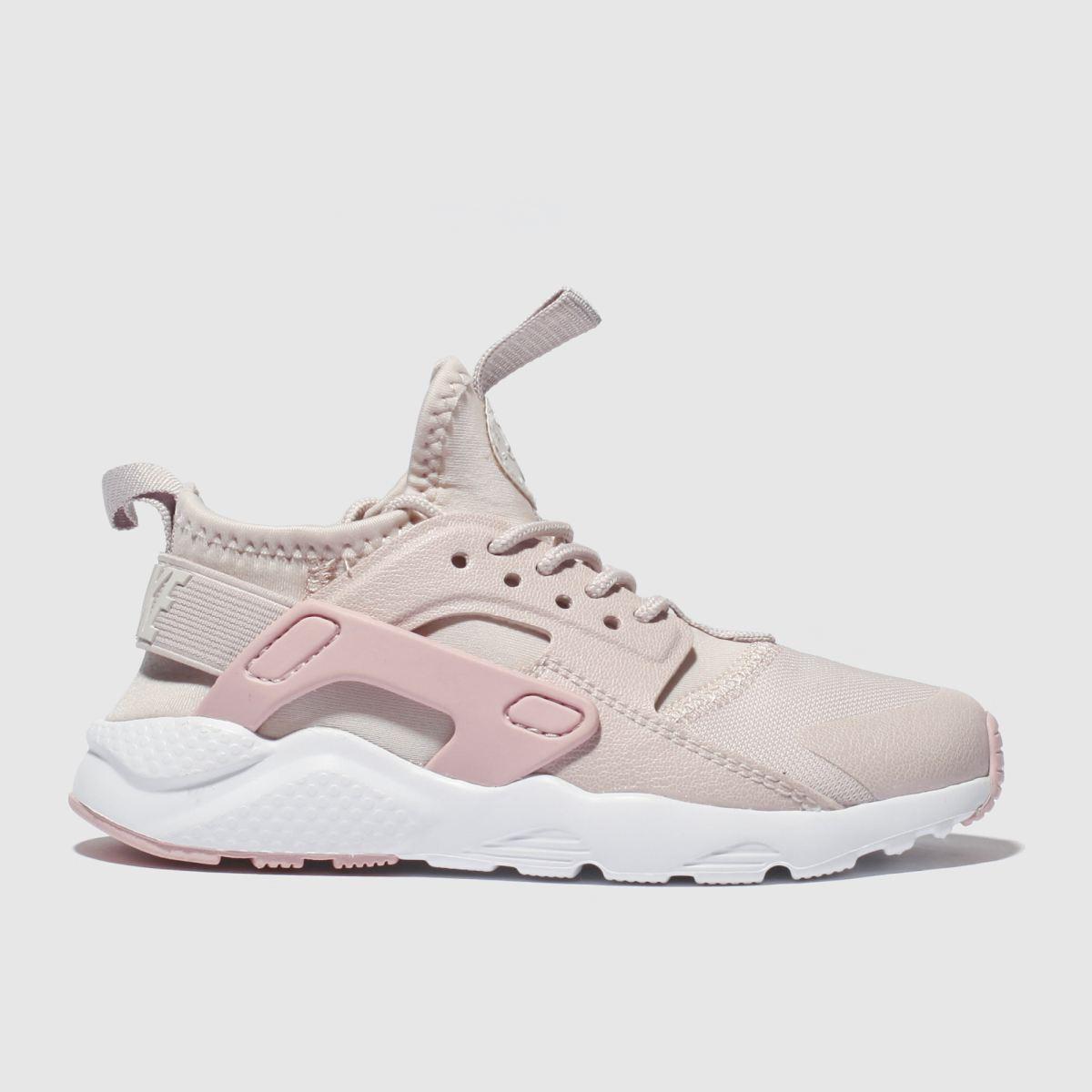 Nike Pale Pink Huarache Run Ultra Premium Trainers Junior