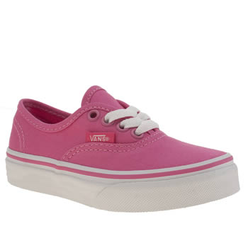 Girls Vans Pink Authentic Girls Junior