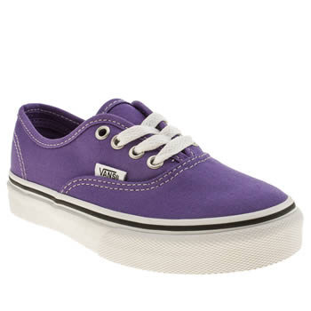 Vans Purple Authentic Girls Junior