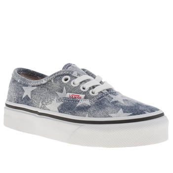 Vans Blue Authentic Girls Junior