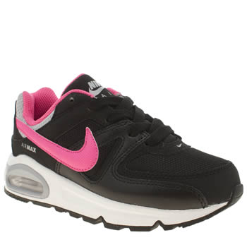 Nike Black & pink Air Max Command Girls Junior