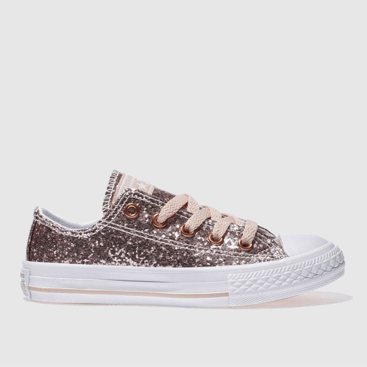 Converse Pink All Star Ox Glitter Trainers Junior