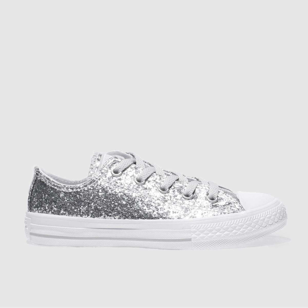 converse silver all star ox glitter Girls Junior Trainers
