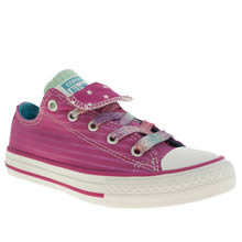 Junior Pink Converse All Star Double Tongue