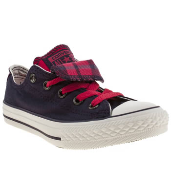 kids converse purple all star double tongue trainers