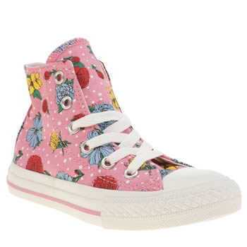 Converse Pink All Star Hi Girls Junior
