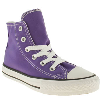 Girls Converse Purple All Star Spec Hi Girls Junior