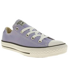 Junior Lilac Converse All Star Oxford